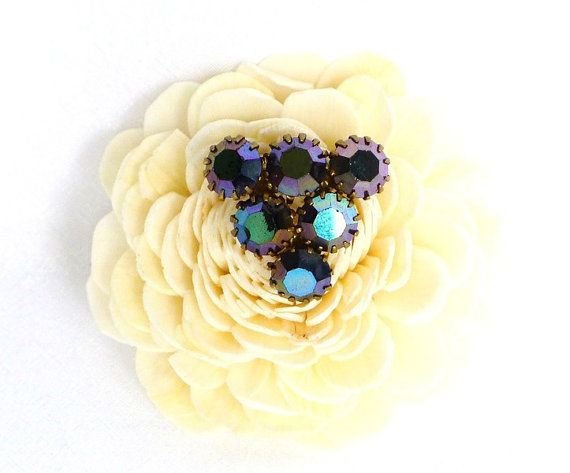 Brosche Aurora Borealis lila türkis Brosche von JewelsbyLonasART