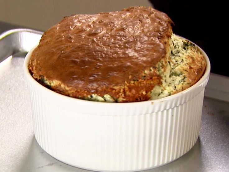 Spinach and Cheddar Souffle recipe from Ina Garten via Food Network