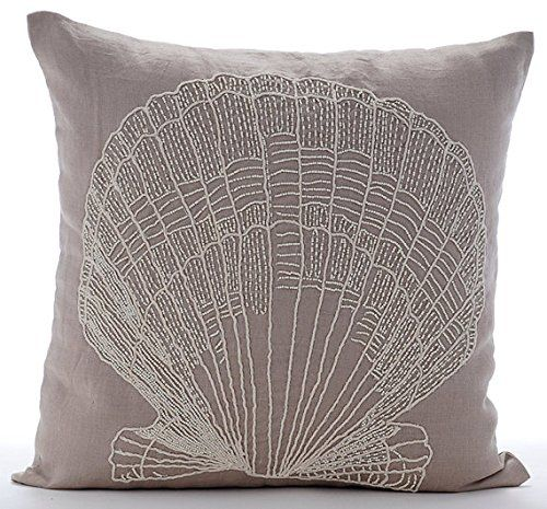 Scallop Shell - 14x14 inches Square Decorative Throw Pill... https://www.amazon.com/dp/B016H8TZR2/ref=cm_sw_r_pi_dp_x_UulFybKAKVKA7