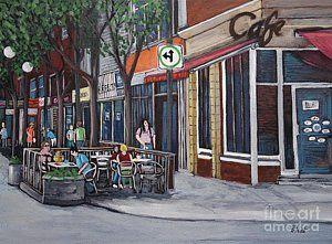 Painting - Wellington Street Verdun by Reb Frost