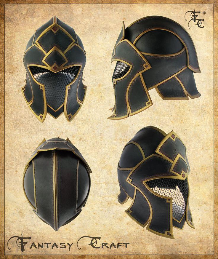 Fantasy leather helmet by I-TAVARON-I.deviantart.com on @deviantART Perfect as a Warrior's Helmet!