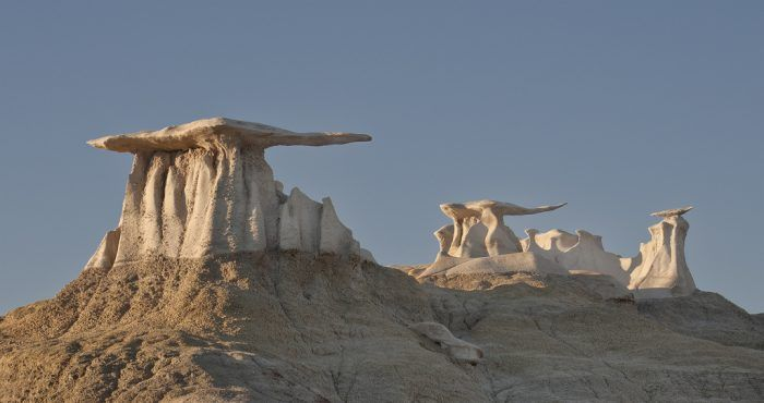 surreal formations found in New Mexico's Bisti/De-Na-Zin Wilderness rival those of Badlands National Park
