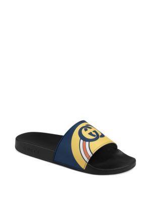 c08d1cfc6a4 GUCCI Pursuit GG Logo Slides.  gucci  shoes