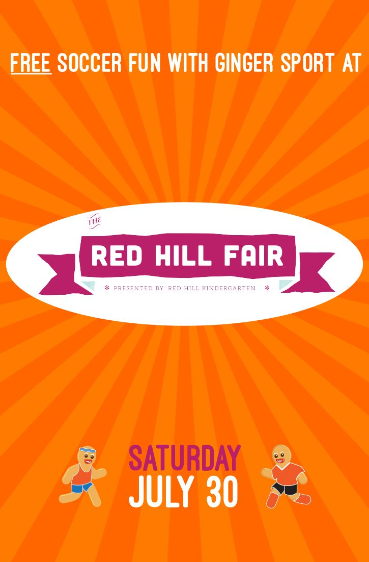 Join Ginger Sport under the sun at the Red Hill Fair!
