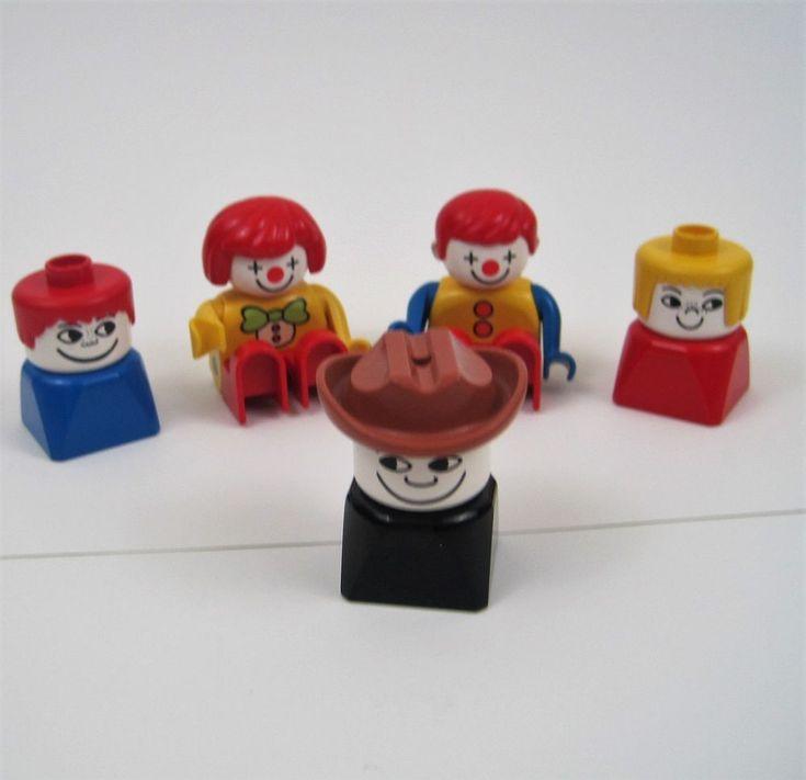 Lego Duplo People Girl Boy Clown Circus Farmer Farm Cowboy Mixed Lot 5 Pieces #LEGO #ebayROCteam