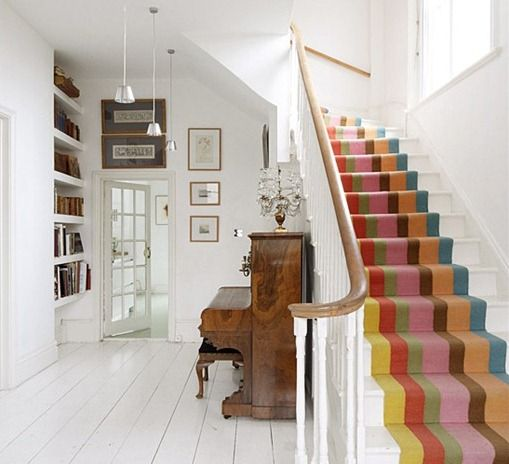 love those stairs #colour #hallway