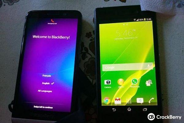 BlackBerry Z30 Leaked Photos With The Sony Xperia Z1
