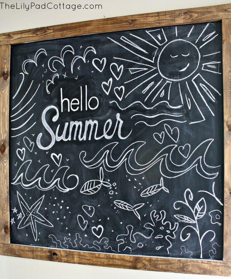 summer chalkboard chalkboard letteringchalkboard designsframed chalkboardchalkboard ideaschalkboard