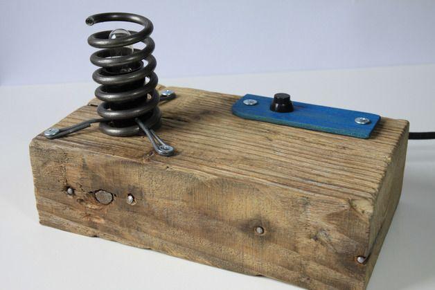 "Lampa ""Sprężynka"" - Blauth-Hand-Made - Lampy stołowe"
