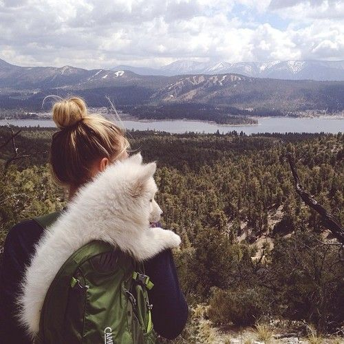 Everything I want from life in one photo-- outdoors and an adorable puppy![ LavHa.com ]