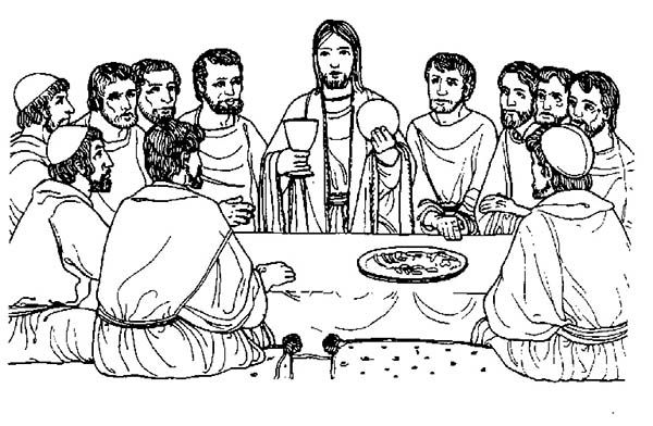 printable coloring page of the last supper - Google Search ... Da Vinci Last Supper Coloring Pages