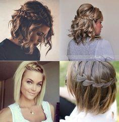 Tägliche Frisuren für kurze Haare
