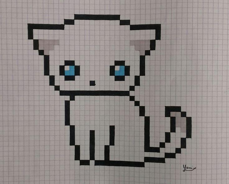 Les 25 Meilleures Ides De La Catgorie Pixel Art Chaton Sur Pinterest Pixel Art Animals