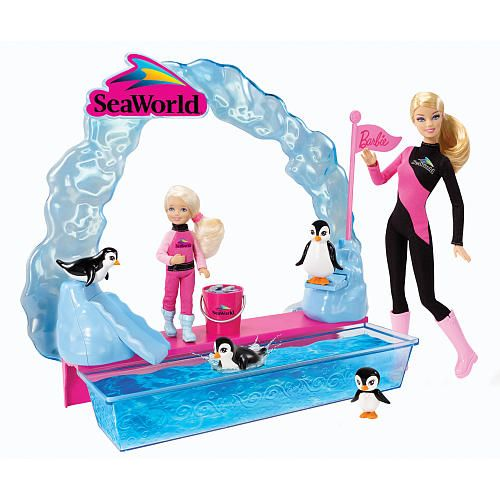 "barbie seaworld trainer | Barbie I Can Be Seaworld Penuin Trainer Doll - Mattel - Toys""R""Us"