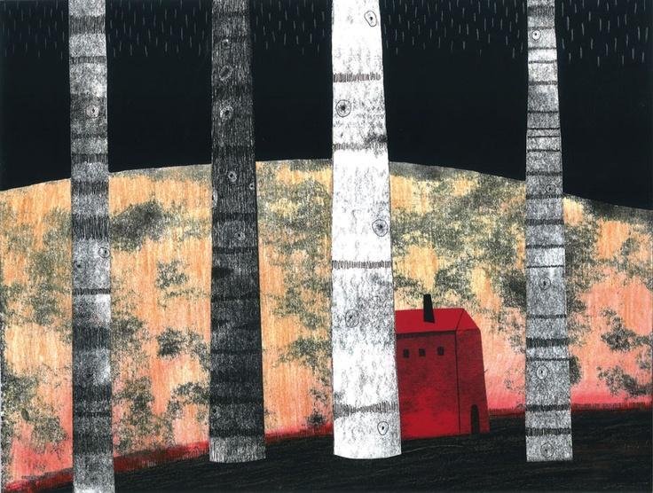 Cuando llueve. Escrito e ilustrado por Leire Salaberria. Faktoria K. 2011