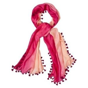 CALYPSO Pink Dip Dye Scarf With Tassle - $13.98, reduced to 9.98