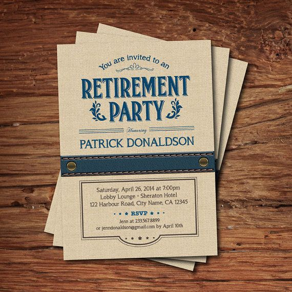 32 Best images about David retirement party ideas on Pinterest - invitation wording for mystery party