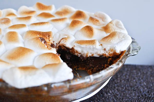 S'mores Pie...I will lighten it up with FF Half & Half, but it will still have more calories than I need in a day!
