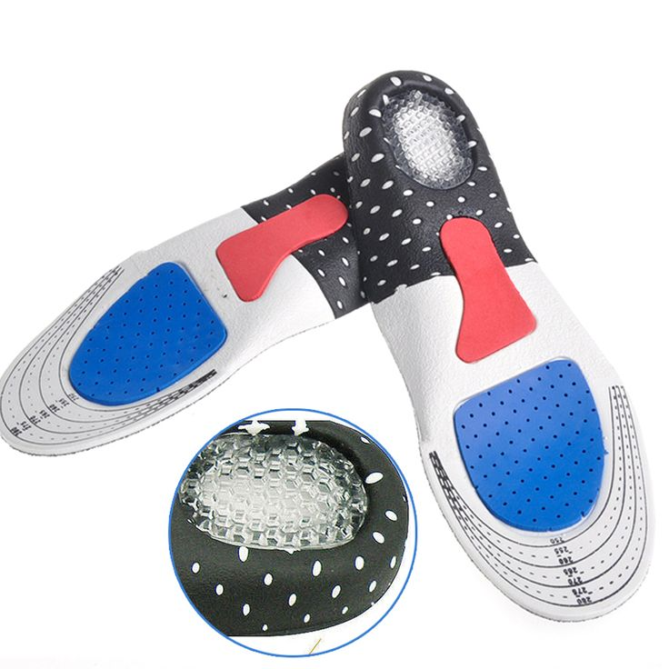 2 Unids/1 Pair Tamaño Libre Unisex Ortopédicos Arch Support Deporte Deporte Pad zapatillas de Running Plantillas Gel del Reductor de para Hombres Mujeres C533