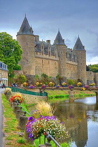 The castle of Josselin also known as Château Rohan – is one of the most famous castles of Brittany in Northwestern France