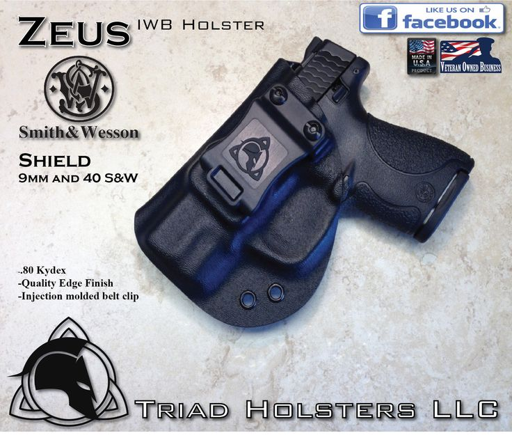 &W M&P Shield 9mm and 40 S&W Kydex Holster - Triad Holsters LLC - Kydex Holsters