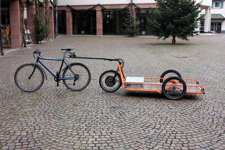 Carla Cargo Bicycle Trailer - orange - Detailed Picture | por carla_cargo
