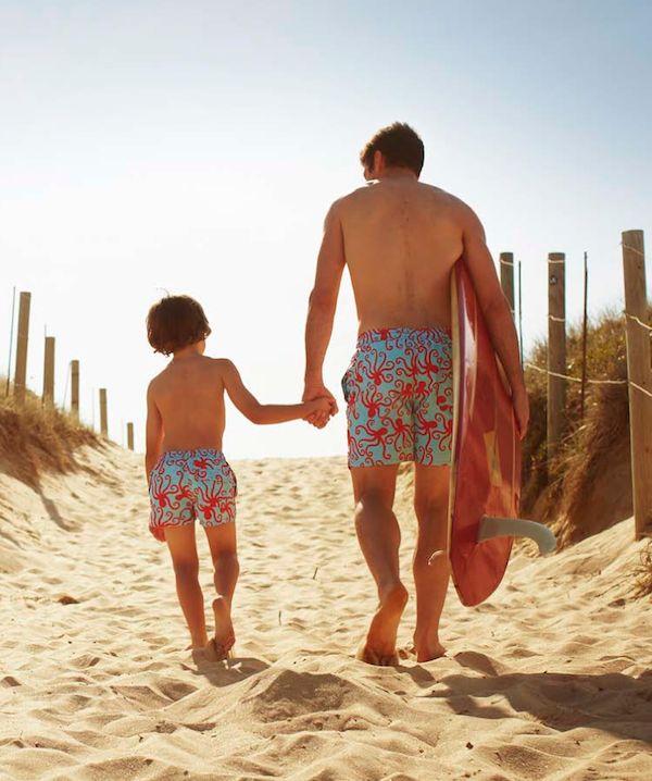 Matching Swimwear Father And Son Board Shorts Dads