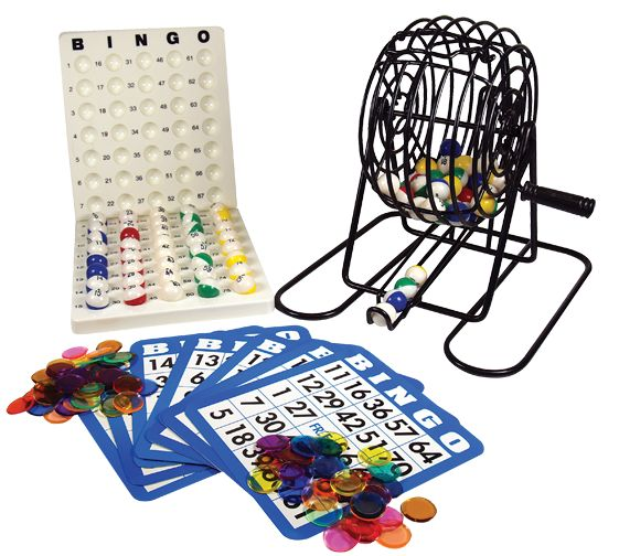 Mini Bingo Cage With Multi Colored Balls - Allied Bingo Supplies