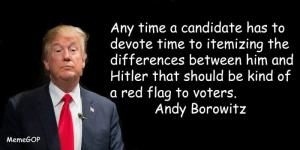 Funny Quotes About Donald Trump by Comedians and Celebrities: Andy Borowitz on Trump and Hitler