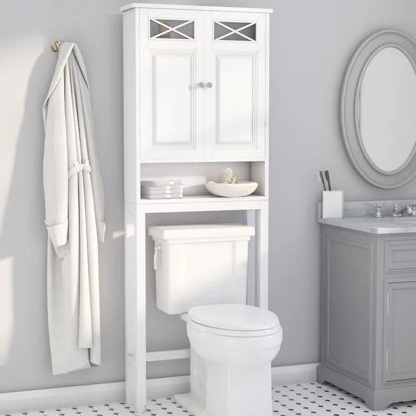 Different Size Shelves Above Toilet