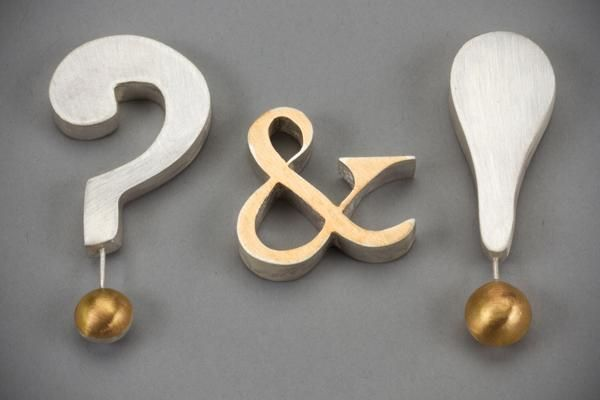 Laurie Hall - question mark ampersand & exclamation mark brooches - 2014