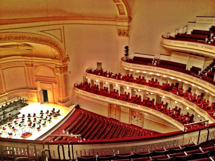Carnegie Hall - One of the most famous and fancy venues in NYC - Seating Capacity 3,600