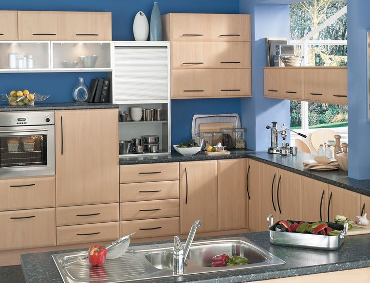 Maybe blue w/ beech | Cologne Beech Kitchen | Beech Kitchen | Big Kitchen Shop