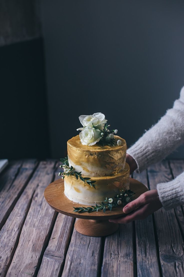 GOLDEN COCONUT RASPBERRY ROSE CAKE - A GLUTEN FREE WEDDING CAKE