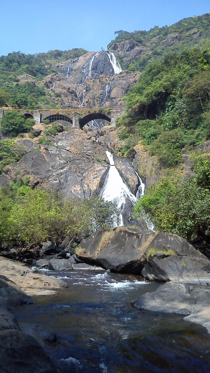 Dudhsagar waterfalls, goa, india