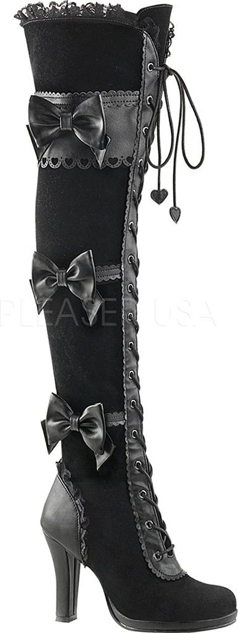Demonia GLAM-300 Women's Lolita Gothic Boots: Amazon.co.uk: Shoes & Bags