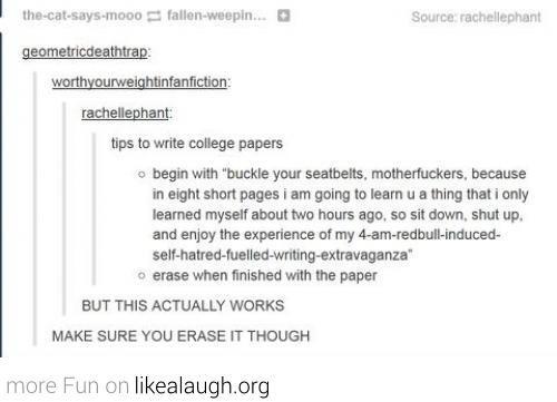 Long essay jokes