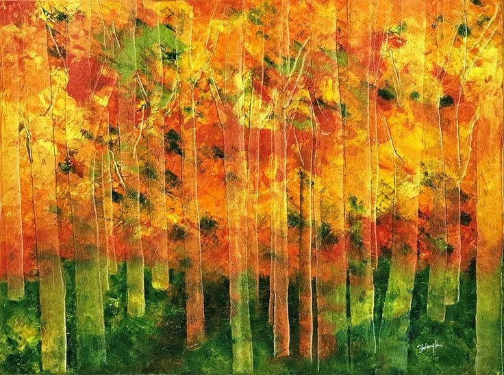 Nature's Beauty Art Exhibition - International Gallery Of The Arts (IGOA)- Lim Zachary-Autumns Rhapsody - Oil Contact: www.polarisdearts.com