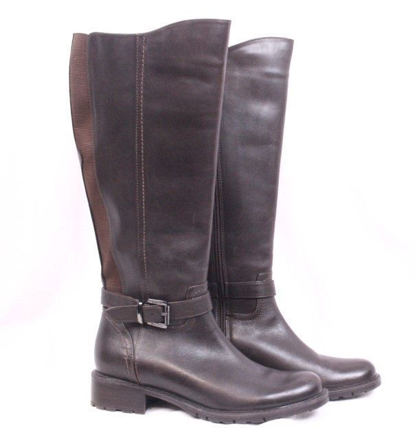 BLONDO Valente Brown Leather Waterproof Buckle Riding Knee High Boots Women 6 M #Blondo #RidingEquestrian