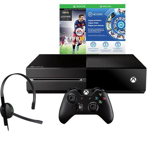 Americanas Xbox One 500GB Edição Limitada + Game FIFA 16 + 1 Mês De EA Access + Headset + Controle - R$1742
