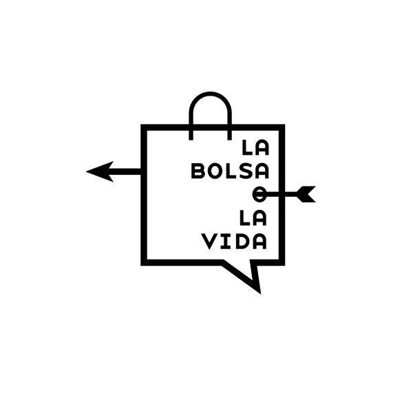 """Nacho Clemente. Logotipo para el evento """"La bolsa o la vida"""""""