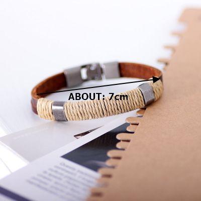 Vintage Multilayer Braided Linen Leather Men Bracelet online - NewChic