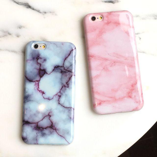 New wine red hot rosa mármore macio tpu shell da pele para o iphone 6 6 s 6 mais 6 splus 7 7 plus elegante bonito casos de cobertura de telefone exclusivo