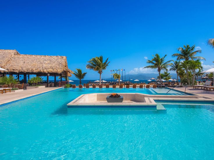 Perched on the southernmost tip of Grenada, on serene Pink Gin Beach, Sandals LaSource is the brand's first property to contain 10 different restaurants serving a variety of international cuisines, making dining a definite highlight here. The best place to stay is in a Skypool Butler Suite, where the bedroom opens to a heated private plunge pool and the living room has an attached terrace with its own soaking tub.