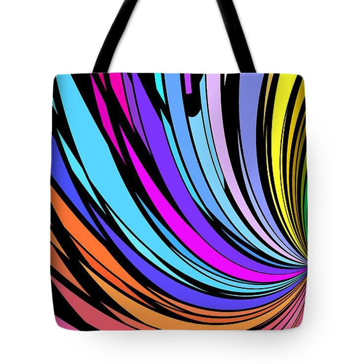 Whirl 2 Tote Bag by Chris Butler.  #totebag #bag #abstract #colorful #design #art #Lifestyle