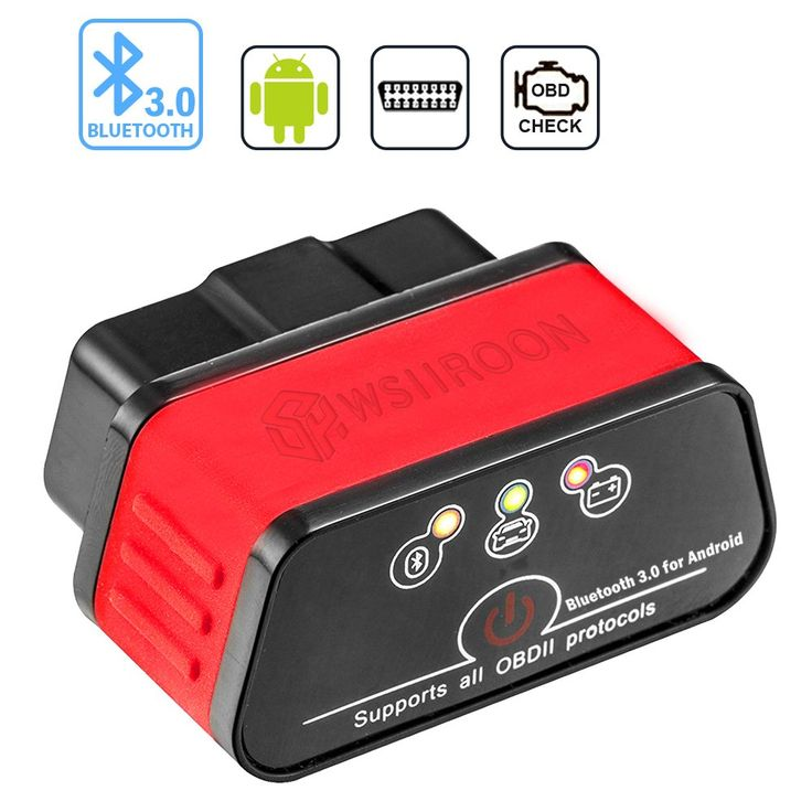 Bluetooth OBD II Scanner, Wsiiroon Bluetooth 3.0 OBD2 Fault Code Reader Car Diagnostic Scan Tool with Switch Auto Sleep, Designed for Android and Windows with Professional Free APP