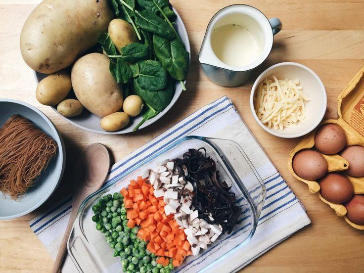 Vegetable & Potato Pie Ingredients