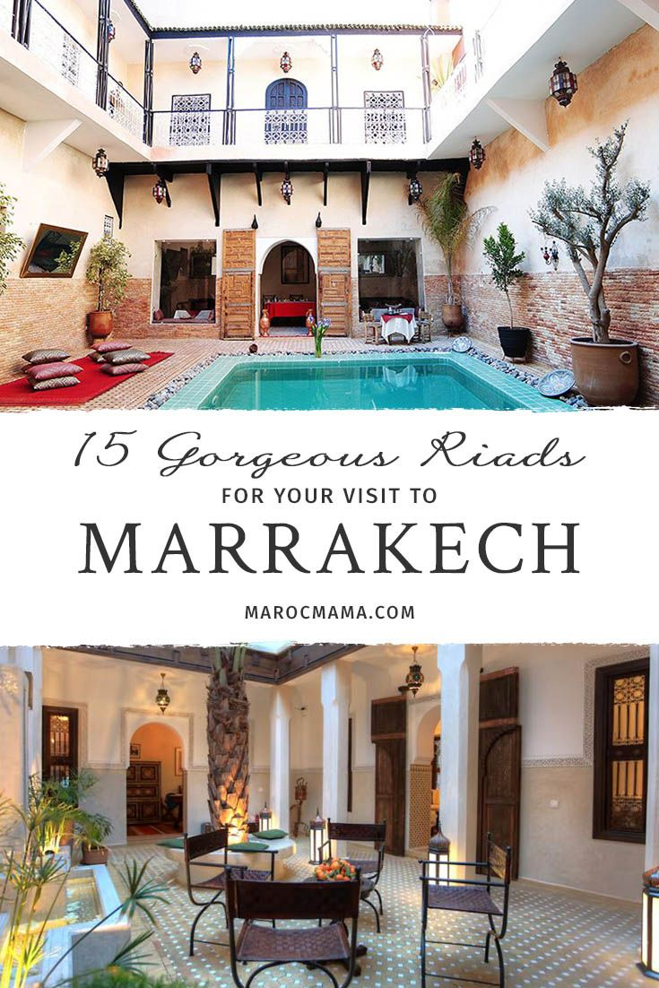 With over 1000 riads in Marrakech, how do you choose? Try one of these beautiful Marrakech riads when you travel to Morocco.