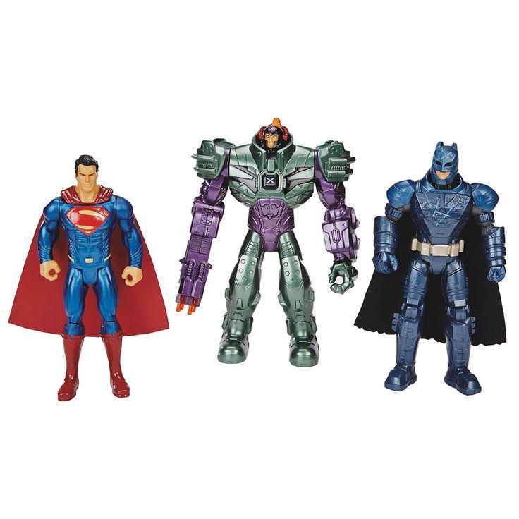Batman v. Superman: Dawn of Justice & Lex Luthor Figure Set by Mattel, Multicolor