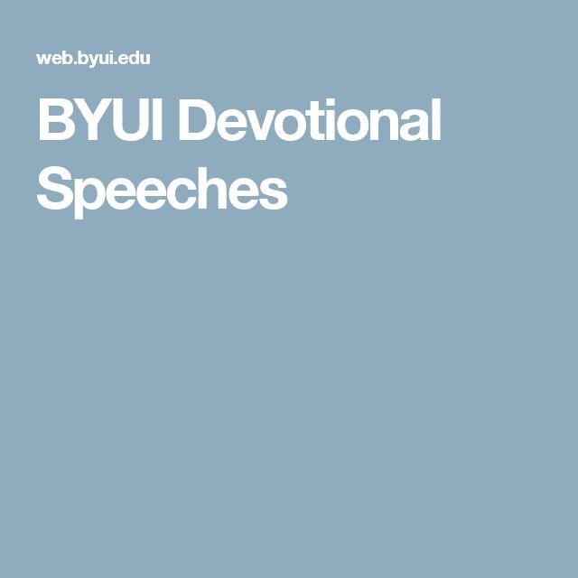BYUI Devotional Speeches